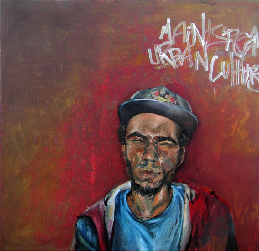 Desiree Kelly Art - Detroit based artist - Mainstream (AVAILABLE --CONTACT FOR PRICE