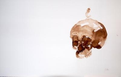 Juliette Choné - Lorigine, 2010, brou de noix sur papier, 100x65 cm