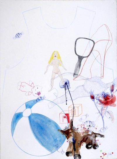 Juliette Choné - Mue 1, 2012, techniques mixtes, 76X57 cm