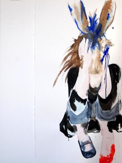 Juliette Choné - Mue 6, 2012, techniques mixtes, 76X57 cm