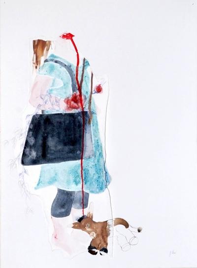 Juliette Choné - Mue 2, 2012, techniques mixtes, 76X56 cm
