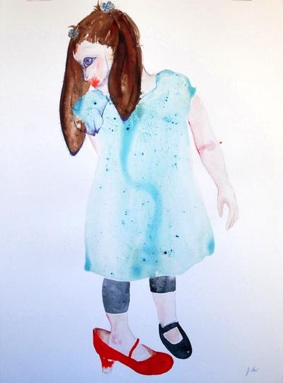 Juliette Choné - Mue 3, 2012, techniques mixtes, 76X57 cm