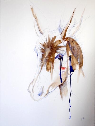 Juliette Choné - Mue 4, 2012, techniques mixtes, 76X57 cm