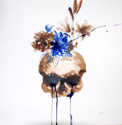Juliette Choné - Poupée, 2010 brou de noix et encre sur papier, 63x65 cm