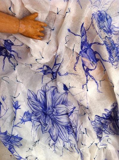 Juliette Choné - Annie - détail de la robe