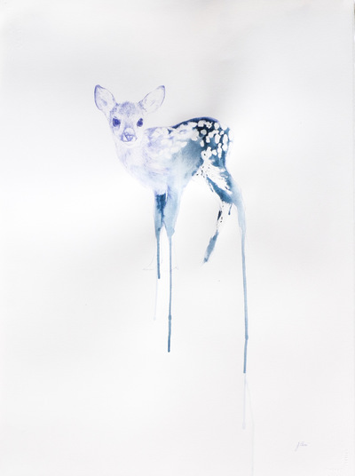 Juliette Choné - Requiem for a deer 2, 2016, BIC pen and ink on paper, 22X29 inches