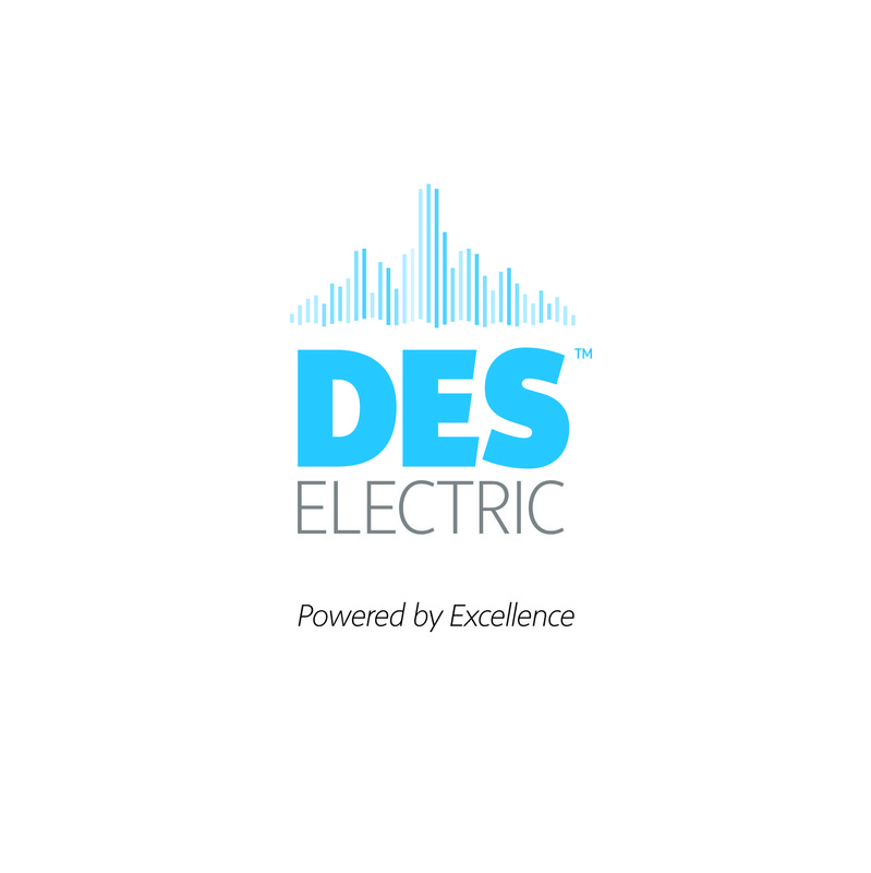 The Works of Brian Vincent Rhodes - Company Logo. Client: DES Electric / Responsibilities: Design, Final Execution