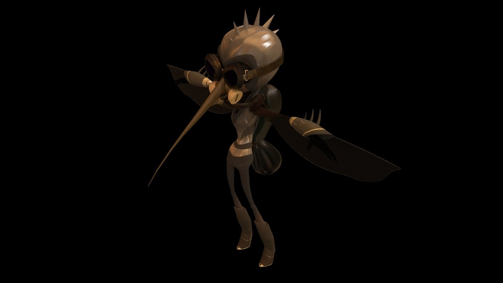 Brian Vincent Rhodes : Animation Filmmaker - Mosquito - Character Design and Texture. Maya and Zbrush