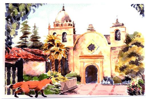 Esther Baran Artwork - Carmel Mission I - $470