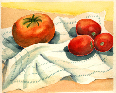 Esther Baran Artwork - Roma Tomatoes