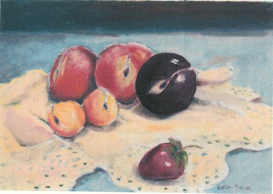 Esther Baran Artwork - Purple Plum and Fruit - $475