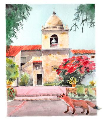 Esther Baran Artwork - Carmel Mission II - $470