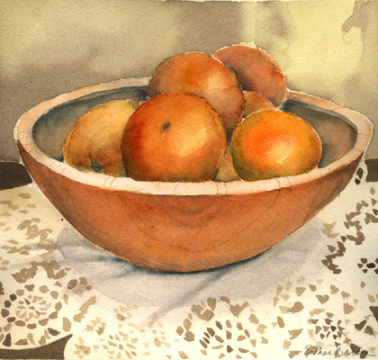 Esther Baran Artwork - Bowl of Oranges - $300