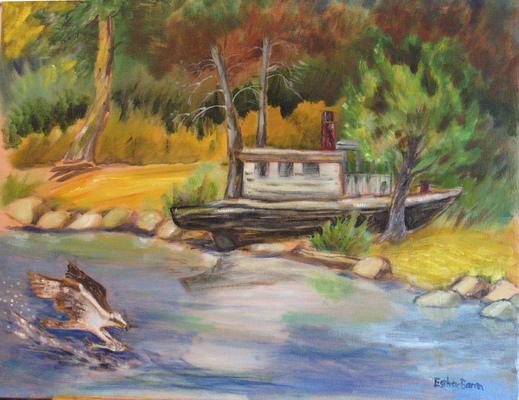Esther Baran Artwork - Old Steamboat