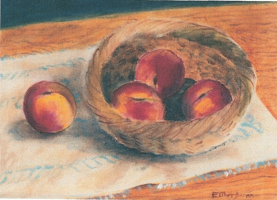 Esther Baran Artwork - Basket of Peaches - $475
