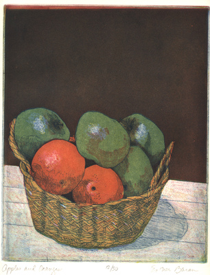 Esther Baran Artwork - Apples and Oranges - $280