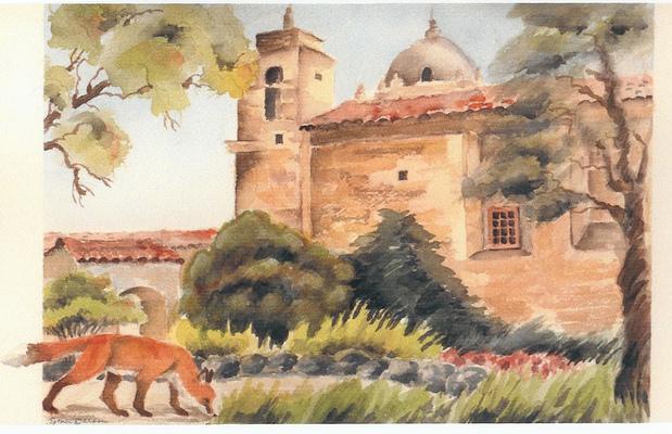 Esther Baran Artwork - Carmel Mission III - $450