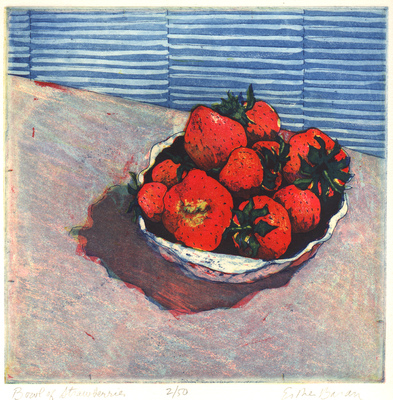 Esther Baran Artwork - Bowl of Strawberries - $280