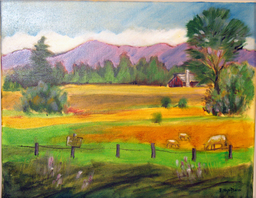 Esther Baran Artwork - Farmland