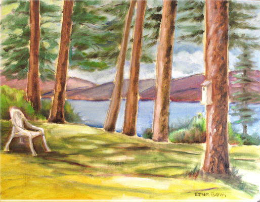 Esther Baran Artwork - Chair in Trees