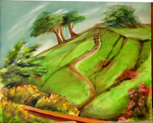Esther Baran Artwork - Billy Goat Hill