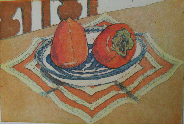 Esther Baran Artwork - Persimmons Monoprint - $300