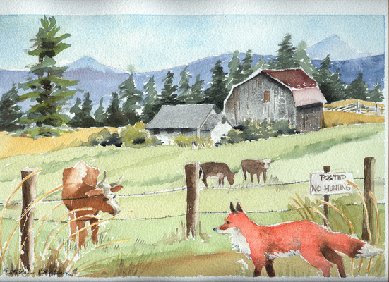 Esther Baran Artwork - No Hunting - $570