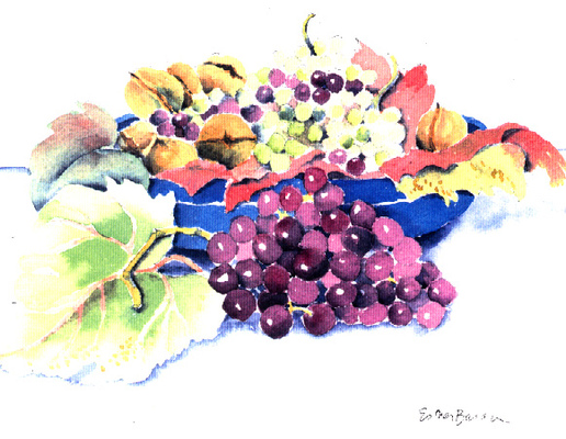 Esther Baran Artwork - Bowl of Grapes - $300