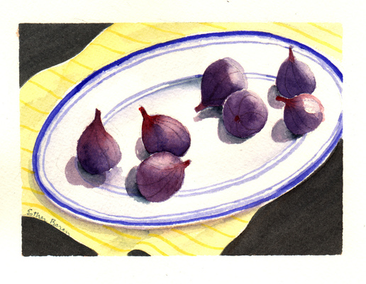 Esther Baran Artwork - Figs on Plate I - SOLD