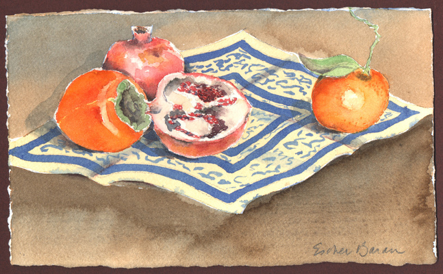 Esther Baran Artwork - Winter Fruit I - $280