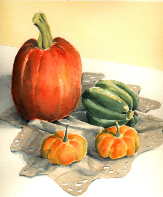 Esther Baran Artwork - Pumpkins II - $420