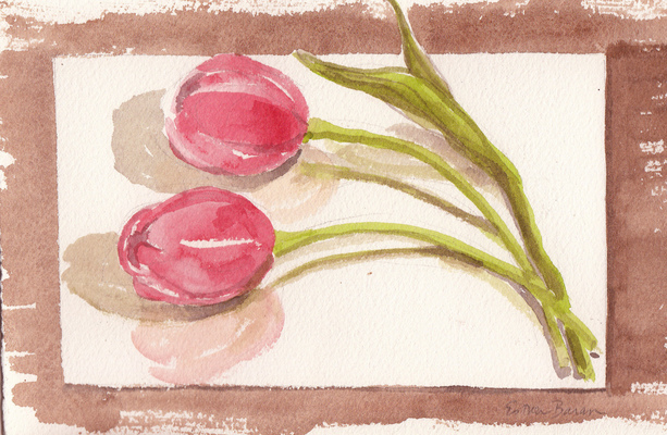 Esther Baran Artwork - Two Tulips - $125