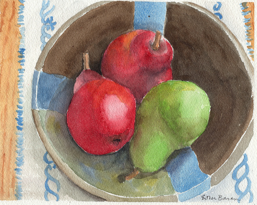 Esther Baran Artwork - Red and Green Pears - $370