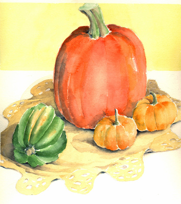 Esther Baran Artwork - Pumpkins I/III - $195