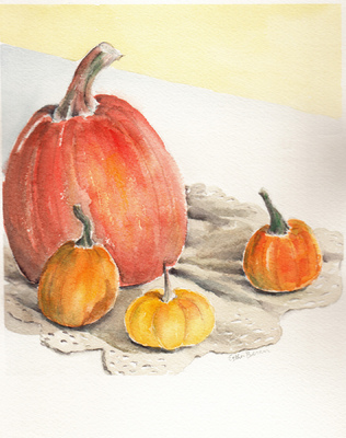 Esther Baran Artwork - Pumpkins III/I - $195