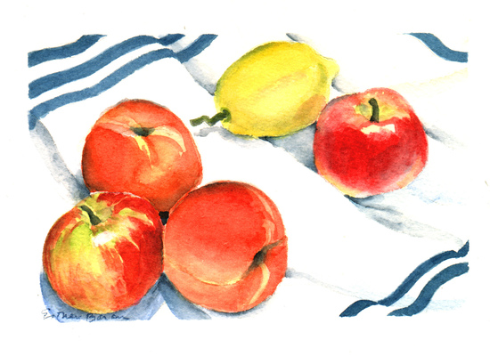 Esther Baran Artwork - Lemon and Apples - $145