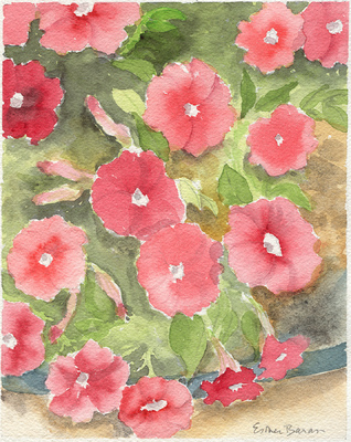 Esther Baran Artwork - Pink Petunias - $195