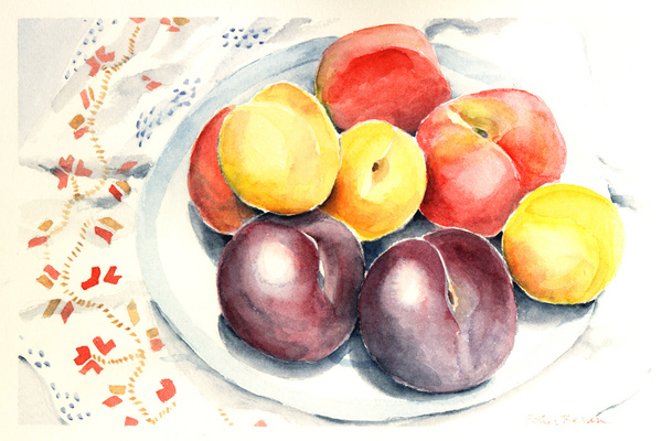 Esther Baran Artwork - Peaches Bowl - $370