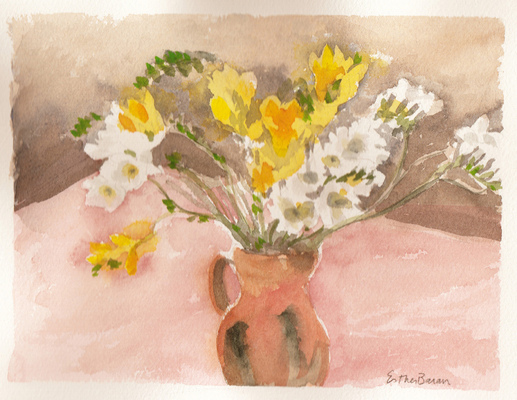 Esther Baran Artwork - Freesia II - $170