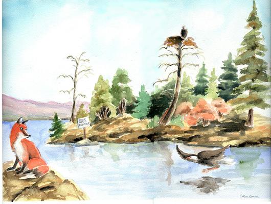 Esther Baran Artwork - Eagle Island - $720