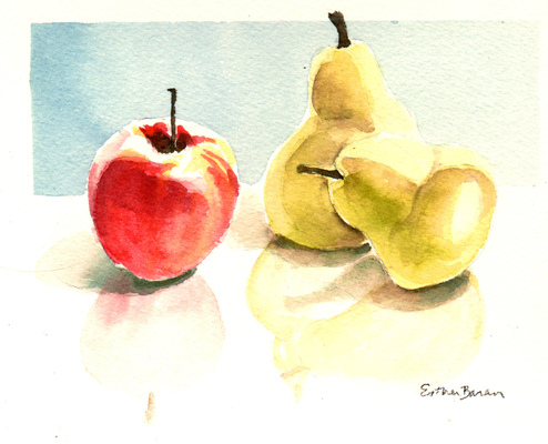 Esther Baran Artwork - Two Pears
