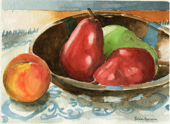 Esther Baran Artwork - Pears with Peach - $370