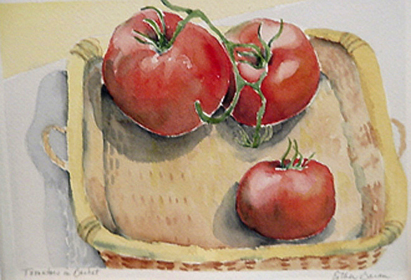 Esther Baran Artwork - Tomato Basket - $350
