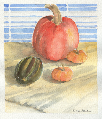 Esther Baran Artwork - Three Pumpkins - $195
