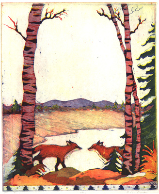 Esther Baran Artwork - Two Foxes - $345
