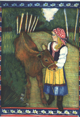 Esther Baran Artwork - Yelena and the Calf - $345