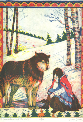 Esther Baran Artwork - Snowmaiden and the Wolf - $345