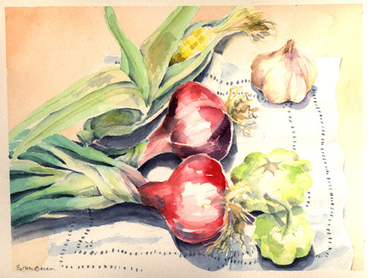 Esther Baran Artwork - Red Onions I - $370