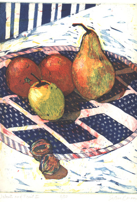 Esther Baran Artwork - Walnuts and Fruit III - $300