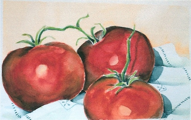 Esther Baran Artwork - Large Tomatoes - $350